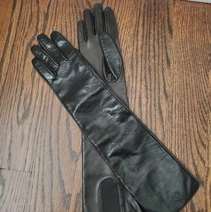 A/X armani exchange long leather gloves
